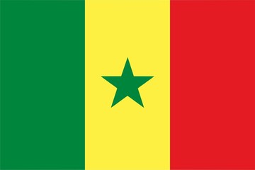 Senegal flag isolated vector illustration