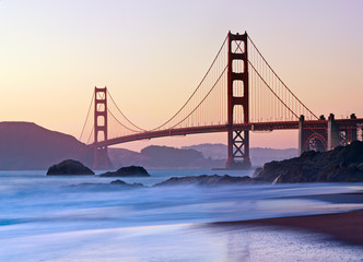 San Francisco's Golden Gate Bridge at Dusk