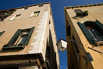 Typical houses and palaces of Venice