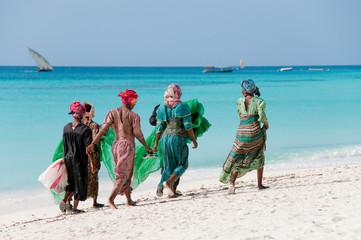 Foto op Textielframe Zanzibar Women from Zanzibar