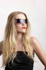 young female beauty with sunglasses