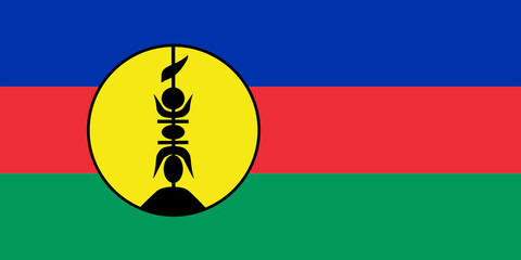 Wall Mural - New Caledonia Flag