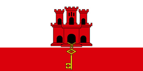 Wall Mural - Gibraltar Flag