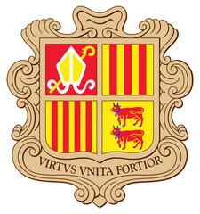 Fototapete - Andorra Coat of Arms