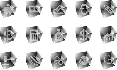 Finance and Banking icons ice