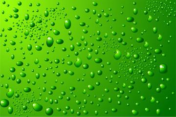 green water drops background vector