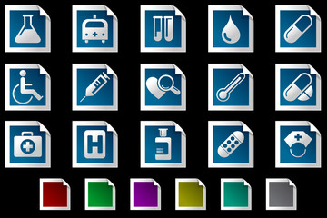 Healthcare and Pharma icons Photo frame series
