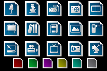 Media and Publishing icons Photo frame series