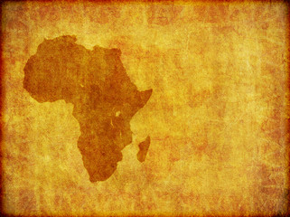 African Continent Grunge Background With Room For Text