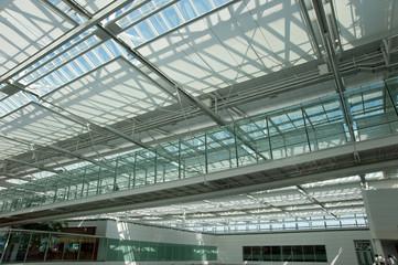 Modern Glass Building Interior