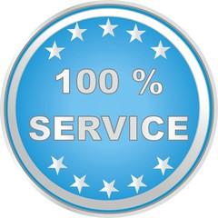 bouton 100% service