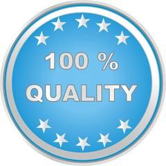 bouton 100 % quality