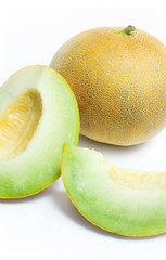 Melon honeydew and two melon slices