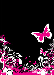 floral butterfly background