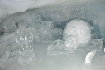 Ice Sculpture in Switzerland