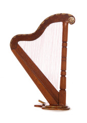 Mainature wooden harp