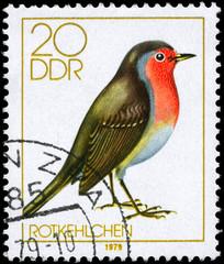 GDR - CIRCA 1979 Robin