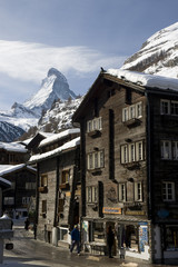 Wall Mural - Zermatt scenery with Matterhorn
