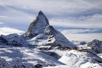 Wall Mural - Panoramic view with Matterhorn