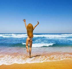 beach girl backside