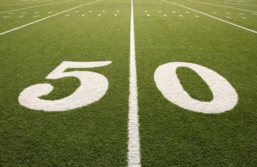 Wall Mural - American Football Field 50 Yard Line