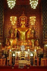 Buddha group in Northern of Thailand