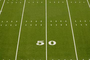 Wall Mural - Empty American Football Field