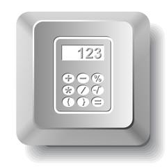 Calculator. Vector computer key.