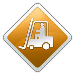 """Advisory Sign """"Danger - Forklift Operating Area"""""""