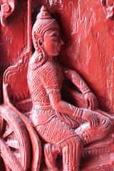 carving, Wat Don Ngoa, Borabue, Mahasarakam