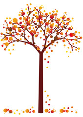 colorful grungy autumn tree