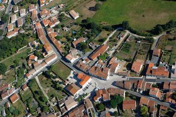 Vue aérienne de Hiers (17320 ), Charente-maritime