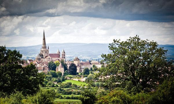 autun cathédrale campagne française ville province romain fort