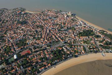 vue aérienne de Fouras, Pointe de la Fumée, Charente-Maritime