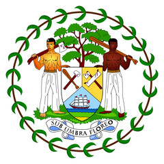 Wall Mural - Belize Coat of Arms