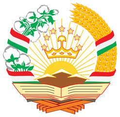 Fototapete - Tajikistan Coat of Arms