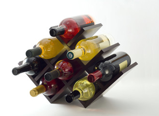 Wine rack with a few bottles