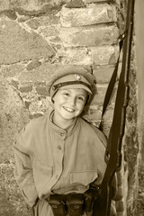 boy in a street clothes 2-nd World War