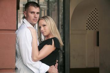 engagement portrait of a couple