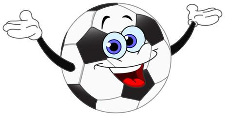 Cartoon soccer ball