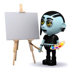 3d Gothic artist