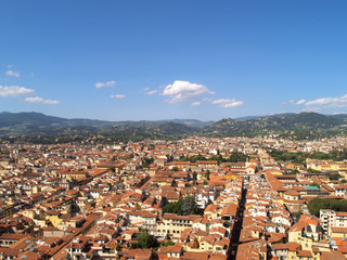 looking over Florence, Italy