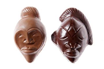 Masque chocolat noir et lait