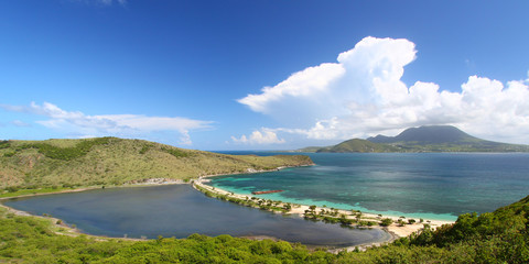 Majors Bay Beach on the Caribbean island of Saint Kitts
