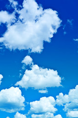 beautyful blue cloudy sky
