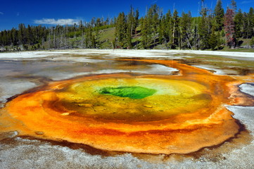 Chromatic Spring. Yellowstone National Park