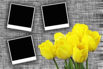 Flower with photo frame