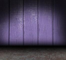 wooden purple grunge interior