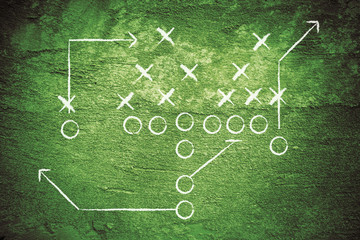 Grunge Football Diagram