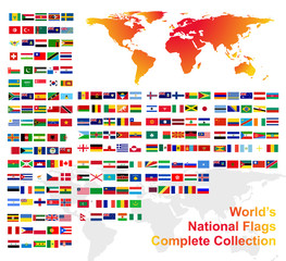 World's National Flags Complete Collection